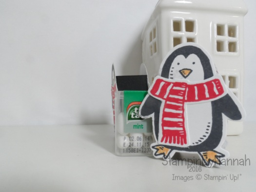 12 Days of Christmas Snow Friends Tic Tac Friend using Stampin' Up! UK products