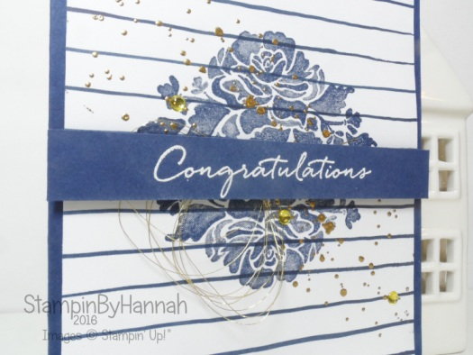 Floral Phrases congratulations card using stamps from Stampin' Up! UK