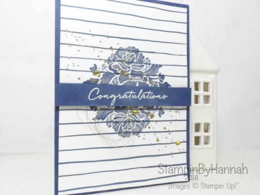 Congratulations card using Floral phrases from Stampin' Up! UK