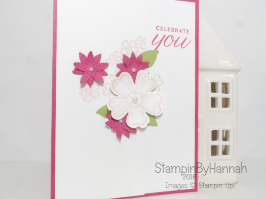 Simply Sketched Saturday Challenge December challenge using Birthday Blossoms from Stampin' Up! UK