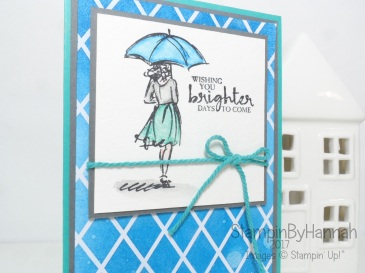 Watercolour Sympathy Card Thinking of you using Beautiful You from Stampin' Up! UK