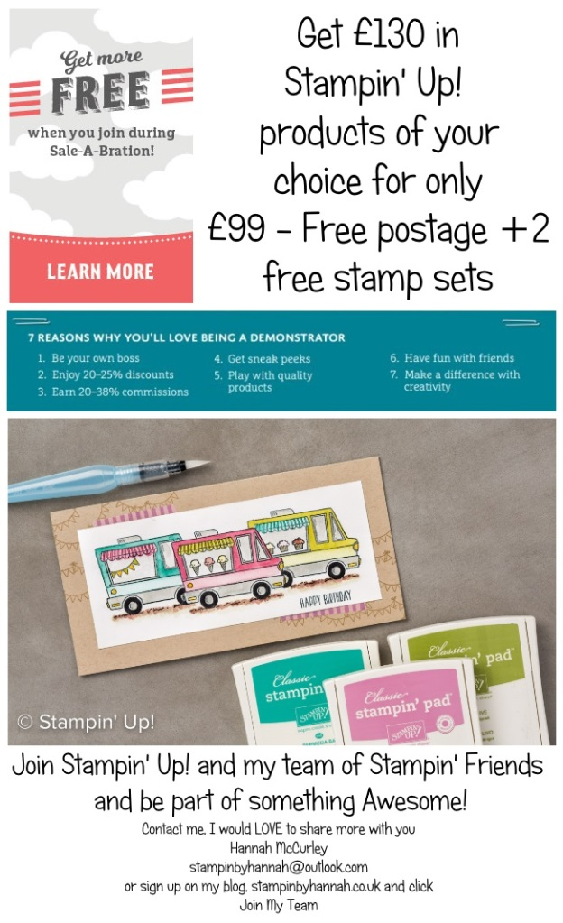 Sale-a-bration joining Stampin' Up! UK