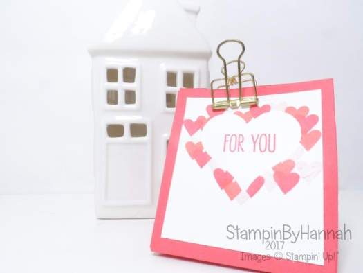 Gift Bag Punch Board Gift Bag for Love Hearts using Jar of Love from Stampin' Up! UK