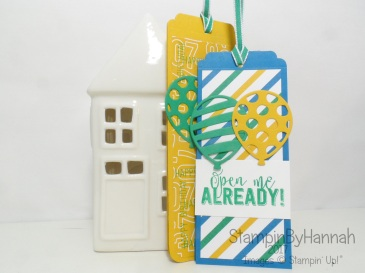 Make It Monday video tutorial to make birthday tags using Balloon Adventures from Stampin' Up! UK
