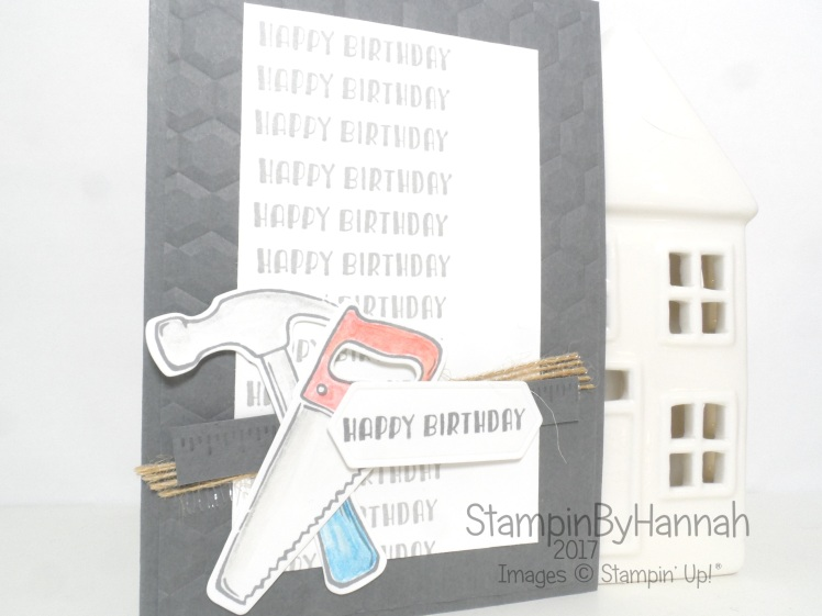Guys Birthday Card using Nailed It Bundle from Stampin' Up! UK