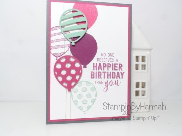Balloon Adventures pop up birthday card for the Pootlers Birthday Blog Hop January 2017 using Stampin' Up! UK products
