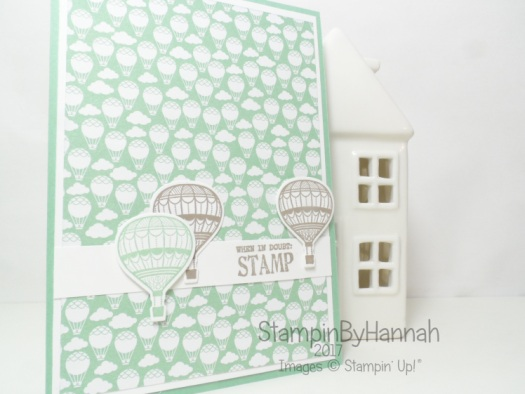 Sale-a-bration team blog hop Using Carried Away Lift me Up and Designer Tee from Stampin' Up! UK