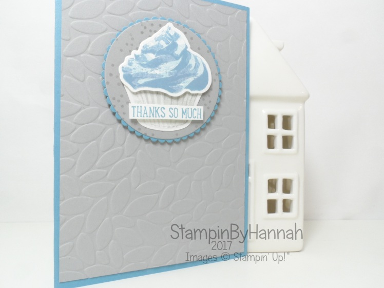 Team Colour Challenge Thank You card using Sweet Cupcake from Stampin' Up! UK
