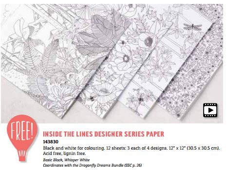 Inside the Lines Designer Series Paper Sale-a-bration from Stampin' Up! UK