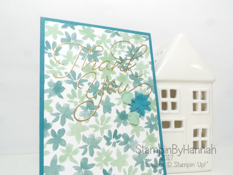 Sale-a-bration thank you card using So very much from Stampin' up! UK