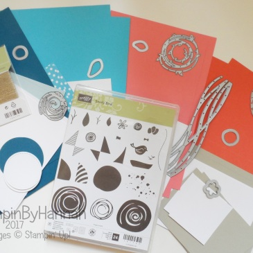 Online Card Class April 2017 featuring Swirly Bird from Stampin' Up!