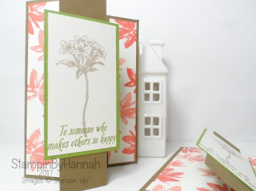 3D Friday Alternative Style Z fold Card using Avant Garden from Stampin' up! UK