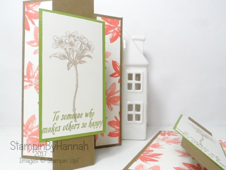 3D Friday Alternative Style Z fold Card using Avant Garden from Stampin' up! UK