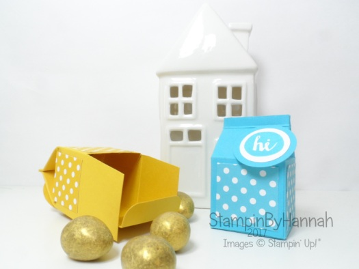 3D Friday Video Tutorial featuring Oh Happy Day from Stampin' Up! Mini Milk Carton box with base closure