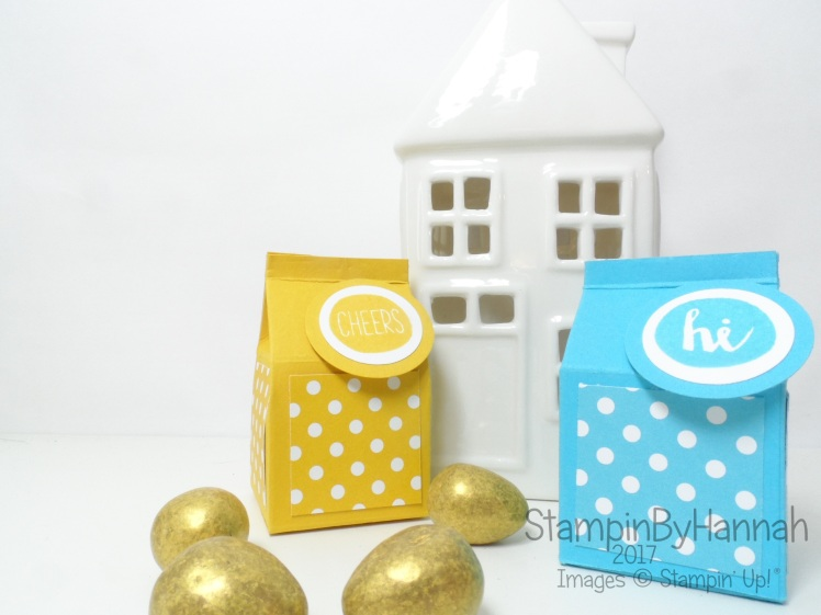 3D Friday Mini Milk Carton using Oh Happy Day from Stampin' Up! UK