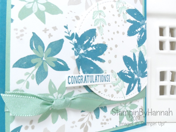 Congratulations card using Avant Garden and Designer Tee from Stampin' Up! UK
