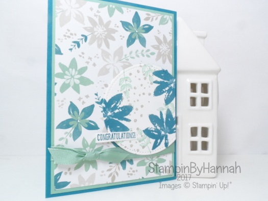 Pretty Floral Congratulations card using Avant Garden and Blooms and Bliss Designer Series Paper from Stampin' Up! UK