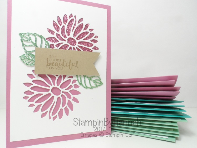 Make It Monday Video Tutorial Special Reason Card using Sale-a-bration Glimmer Paper Customer Thank You Cards using Stampin' Up! Products