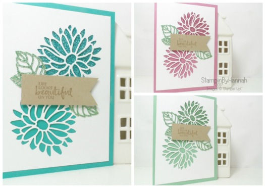 Make It Monday Video Tutorial using Sale-a-bration Glimmer Paper Beautiful You card using Special Reason from Stampin' Up! UK