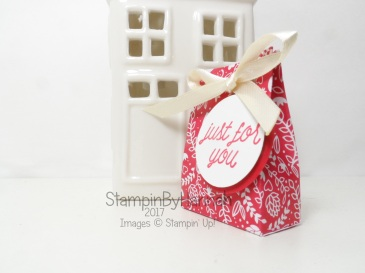 Make It Monday Love Hearts Mini Gift Bags January Thank you Valentines using Sending Love Designer Series Paper from Stampin' Up! UK