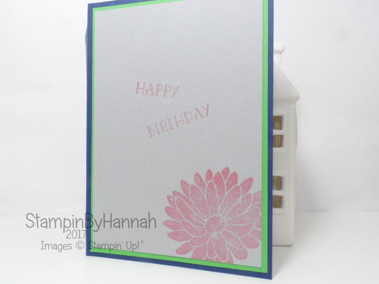 Special Birthday card using Special Reason and Number of Years from Stampin' Up! UK