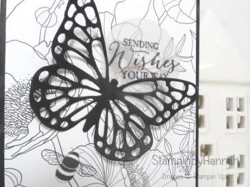 Sale-a-bration 2017 Inside the Lines Designer Series Paper Sending Wishes Card Stampin' Up! UK