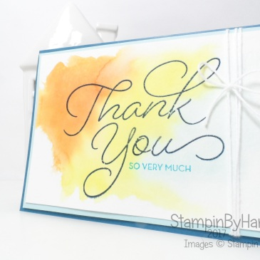 Sale-a-bration 2017 So Very Much from Stampin' Up! Watercolour Colour You World Challenge Thank You Card