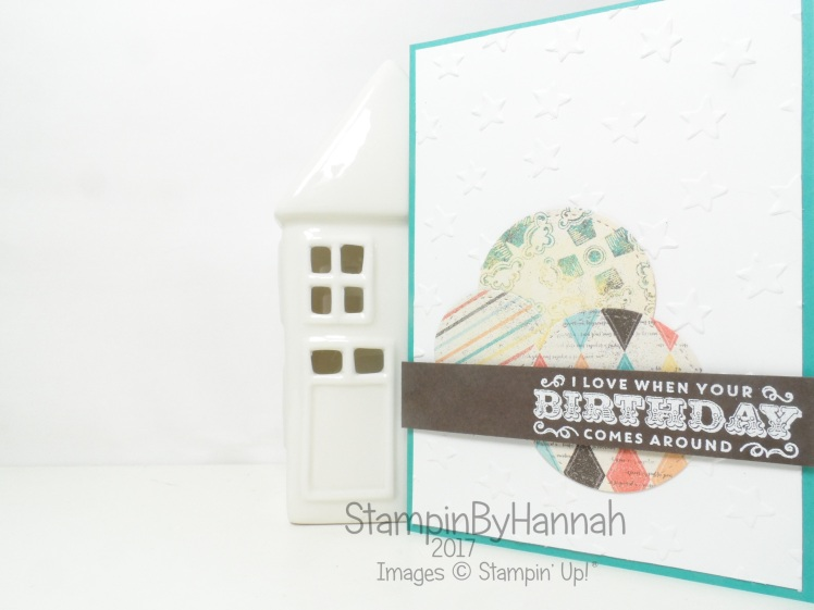 Simply Sketched Saturday Challenge Birthday Card using Cupcakes and Carousels from Stampin' Up! UK