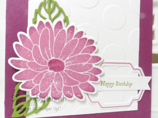Pretty Birthday Card using Special Reason from Stampin' Up! UK