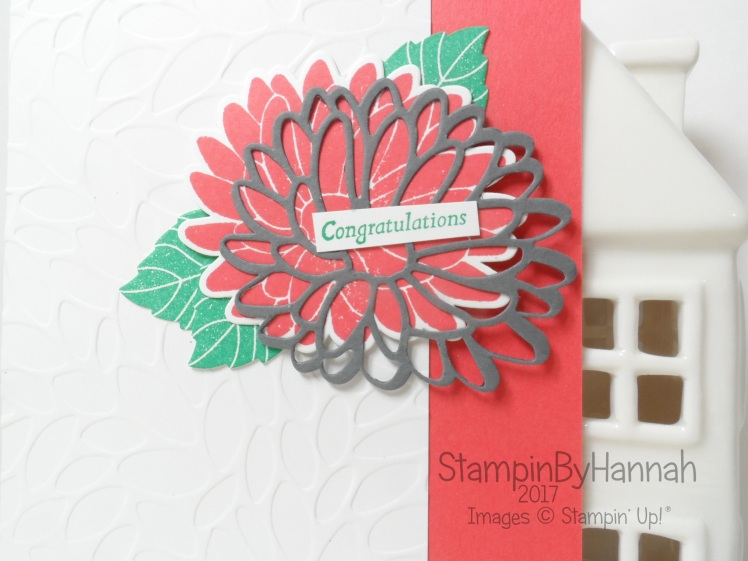 Sunday Colour Splash Colour Challenge Congratulations Card using Watermelon Wonder Emerald Envy Basic Gray and Special Reason from Stampin' Up!