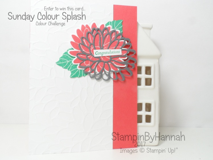 Sunday Colour Splash Colour Challenge Floral Congratulations Card using Special Reason from Stampin' Up! UK