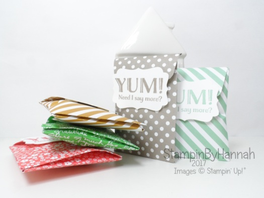 3D Friday Sweetie Packets using the Gift Bag Punch Board and Me = Grateful from Stampin' Up! UK