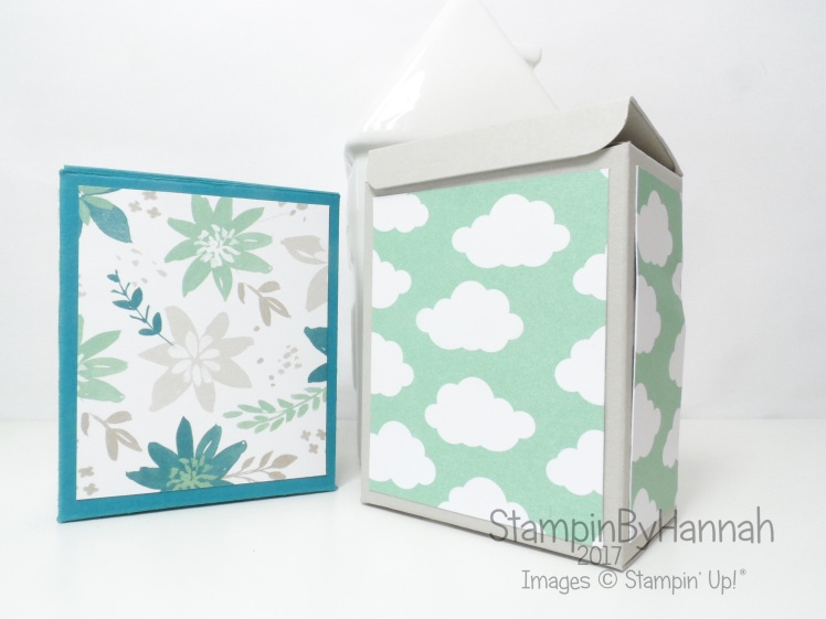 Cute gift box video tutorial using Blooms and Bliss floral patterned paper from Stampin' Up!