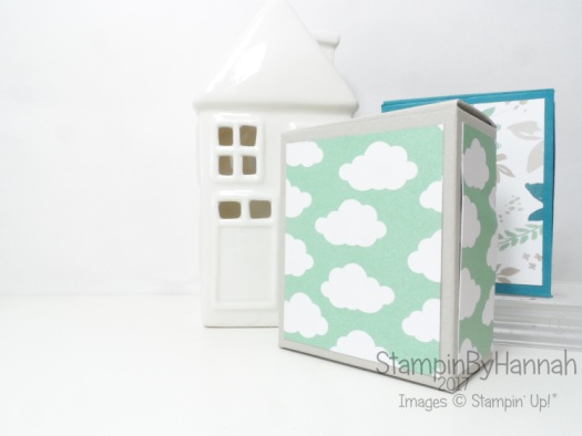 3D Friday video tutorial cute giftbox for teabags candles sweeties chocolate using Carried away designer series paper from Stampin' Up!