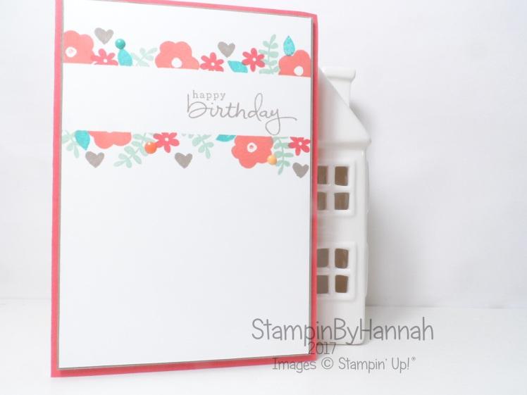 Handmade birthday card masking endless birthday wishes from Stampin' Up! UK