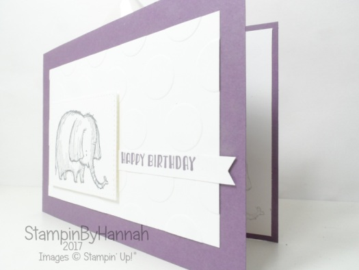 Cute new baby card using Love you lots and Designer Tee from Stampin' Up!
