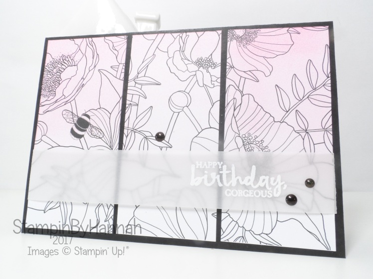 Make It Monday using Beautiful You and Inside the Lines from Stampin' Up! to made a simple birthday card