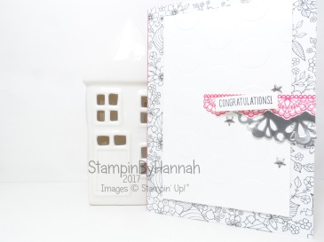 Make It Monday Quick and Easy Congratulations Card for Saleabration using Designer Tee Delicate Details and Inside the Lines from Stampin' Up!