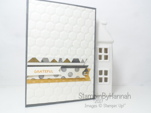 Make It Monday Video tutorial how to use your scraps of patterned paper using Urban Underground from Stampin' Up! to make a thank you card