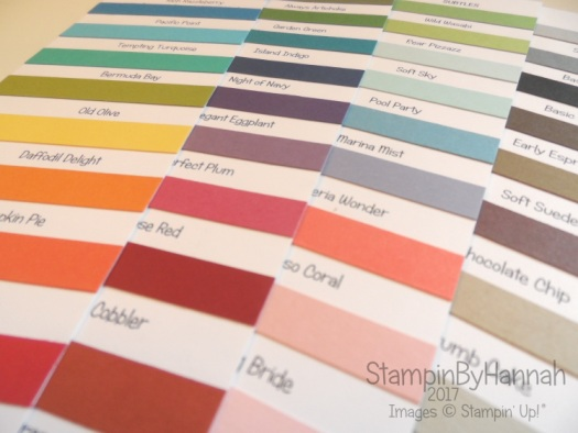 Stampin' Up! Colour Charts