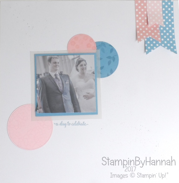 Simply Sketched Saturday Challenge A Day to Celebrate Wedding Scrapbook Page using a sketch and Stampin' Up! products