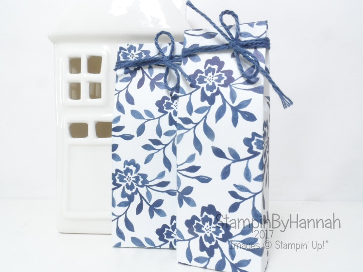 3D Friday Video Tutorial Mini Chocolate Gift Bags using Stampin' Up! Designer Series Paper