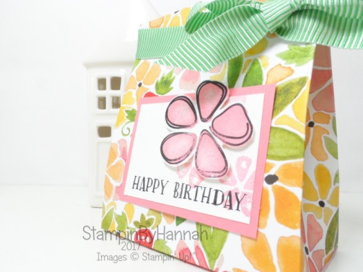 3D Friday Squishy gift bag tutorial using Fresh Fruit from Stampin' Up!