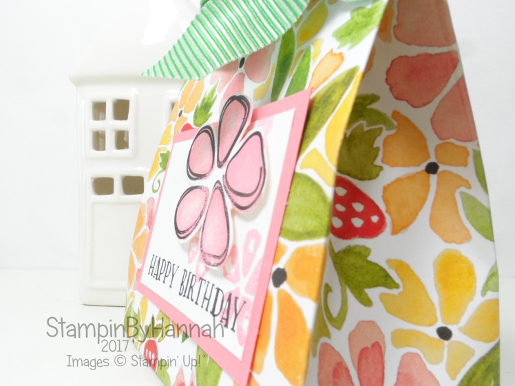 3D Friday large gift bag tutorial using Fruit Stand Designer Series Paper from Stampin' Up!