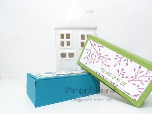 3D Friday Video Tutorial Candle box featuring Jar of Love from Stampin' Up!