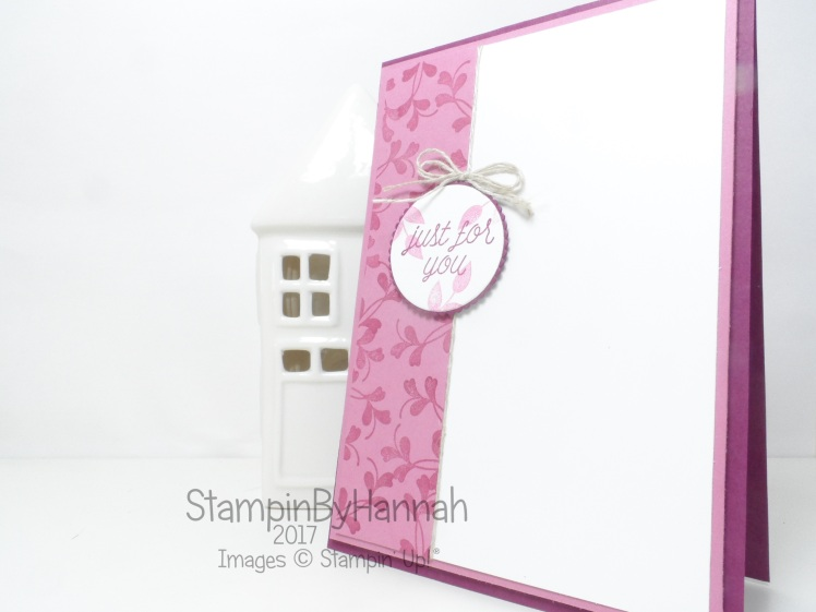 Global Design Project #082 Just for you card using So In Love from Stampin' Up!