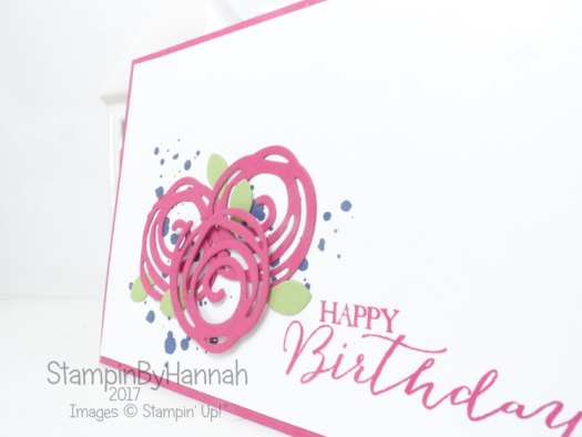 Make It Monday Video Tutorial card making quick and easy card using Swirly Bird from Stampin' Up! UK