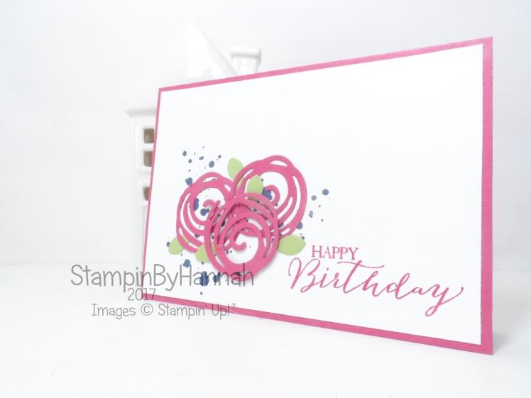 Make It Monday Card making Video Tutorial Birthday Card using Swirly Bird from Stampin' Up!