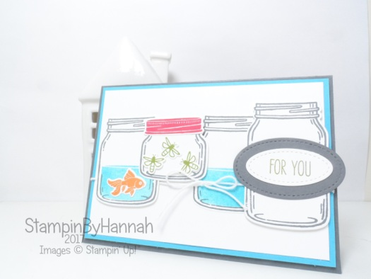 Simply Sketched Saturday Challenge Just For You Card using Jar of Love from Stampin' Up!