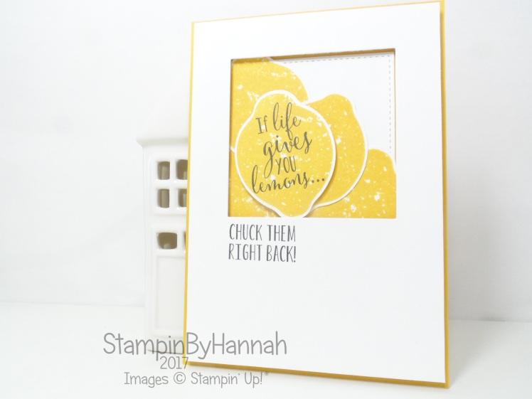 Stampin' Up! Lemon Zest Fun Card